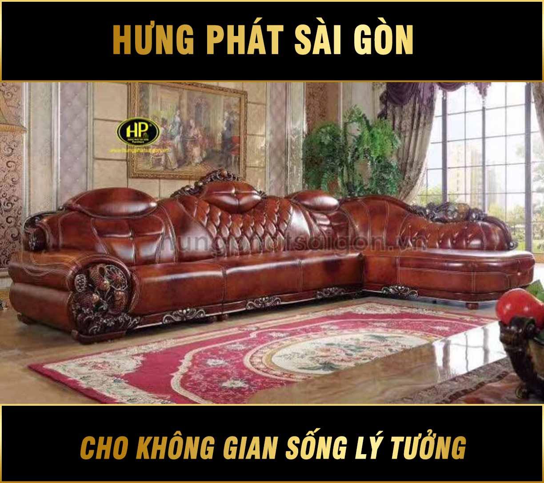 Sofa da cao cấp nhập khẩu H-1437