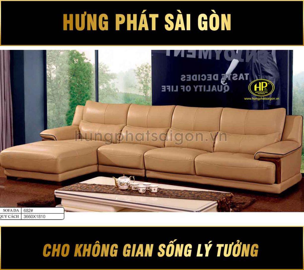 Sofa da hiện đại nhập khẩu H-682