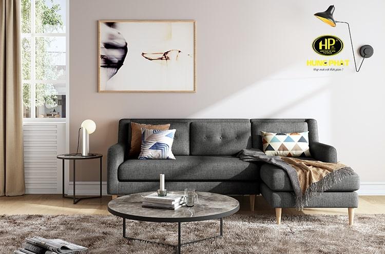 Sofa vải nỉ đệm rời giúp dễ dàng vệ sinh, lau chùi