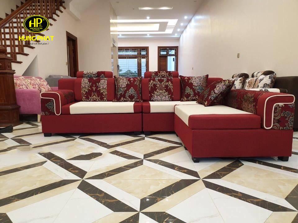 Sofa vải nỉ giúp cho phòng khách của gia đình thêm sang trọng