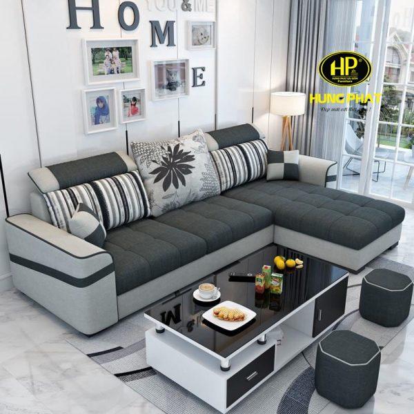 Sofa vải nỉ thô đơn giản và hiện đại