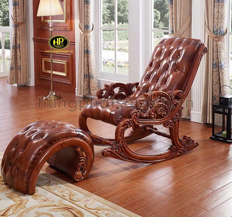 ghế sofa thư giãn da bò cao cấp
