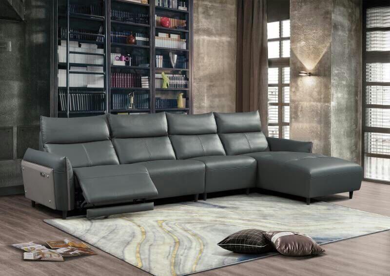 sofa da thư giãn hiện đại