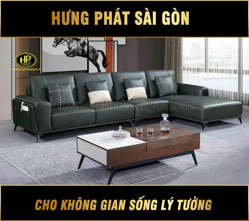 sofa da cao cấp sang trọng h-1907