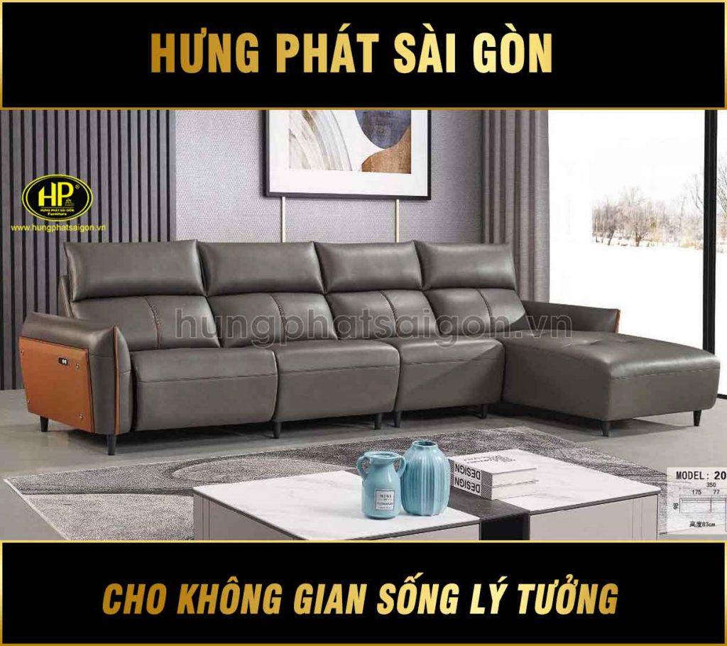 sofa da thư giãn H-2015