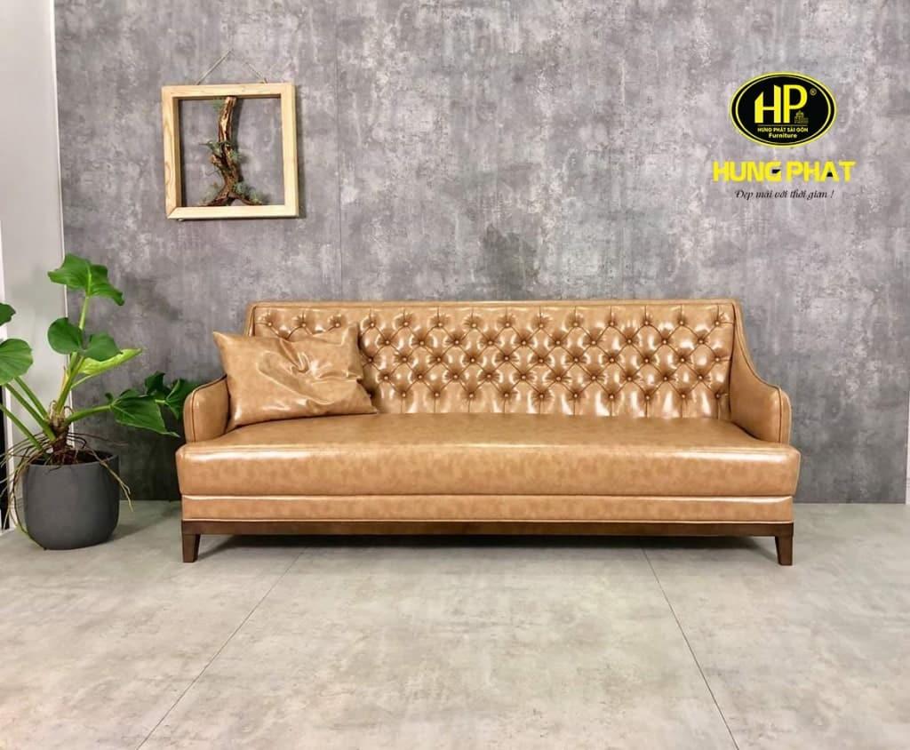 Chất liệu da khiến cho sofa spa thêm phần sang trọng