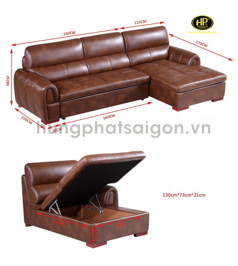sofa giường da cao cấp