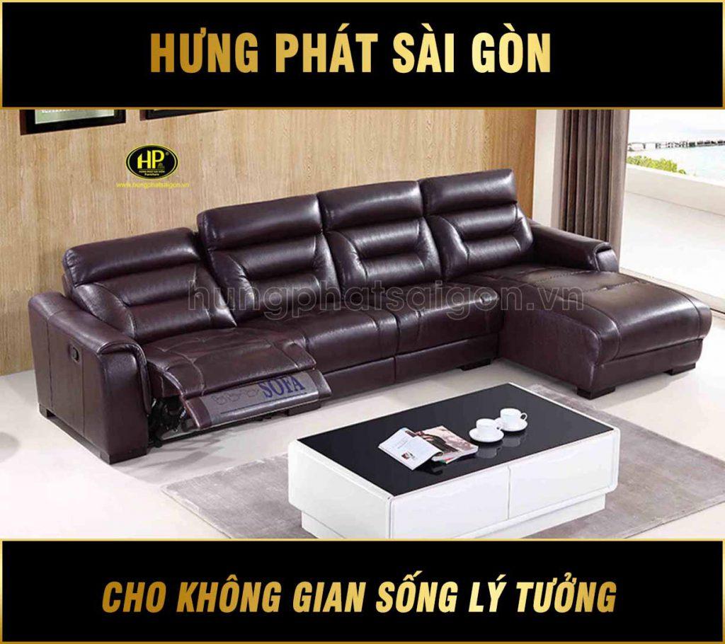sofa da góc chữ L thư giãn NK-890 hungphatsaigon