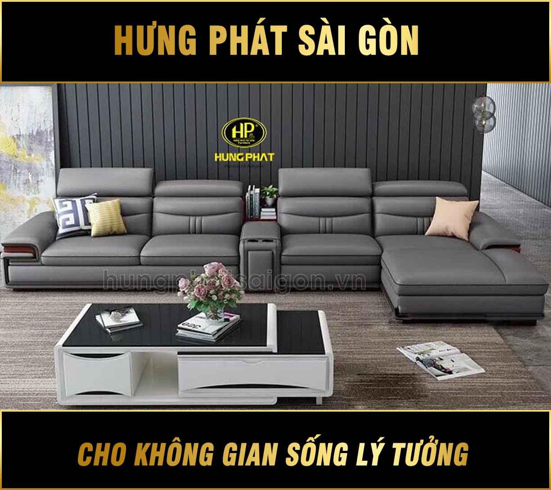 Sofa da hiện đại sang trọng HD-19