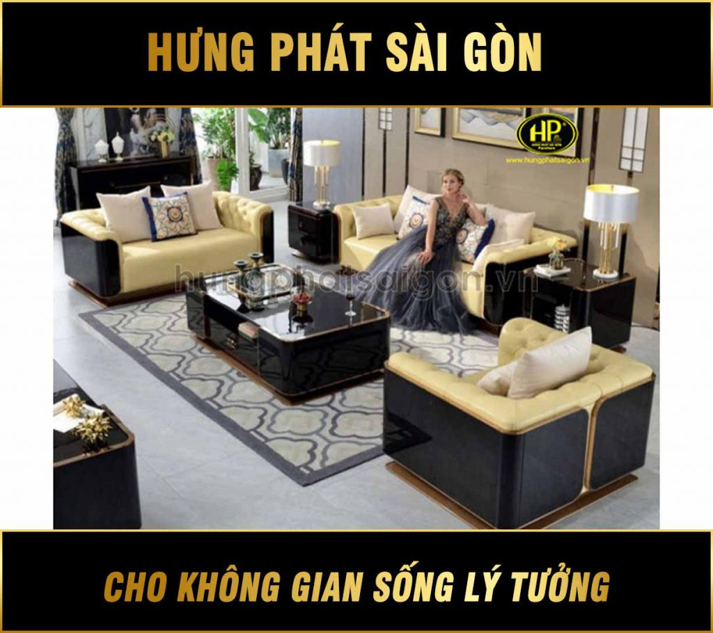 Sofa da cao cấp nhập khẩu luxury NK-04