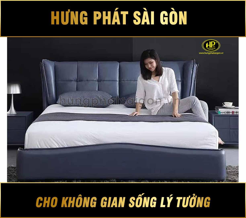 Giường bọc da hiện đại GD-02