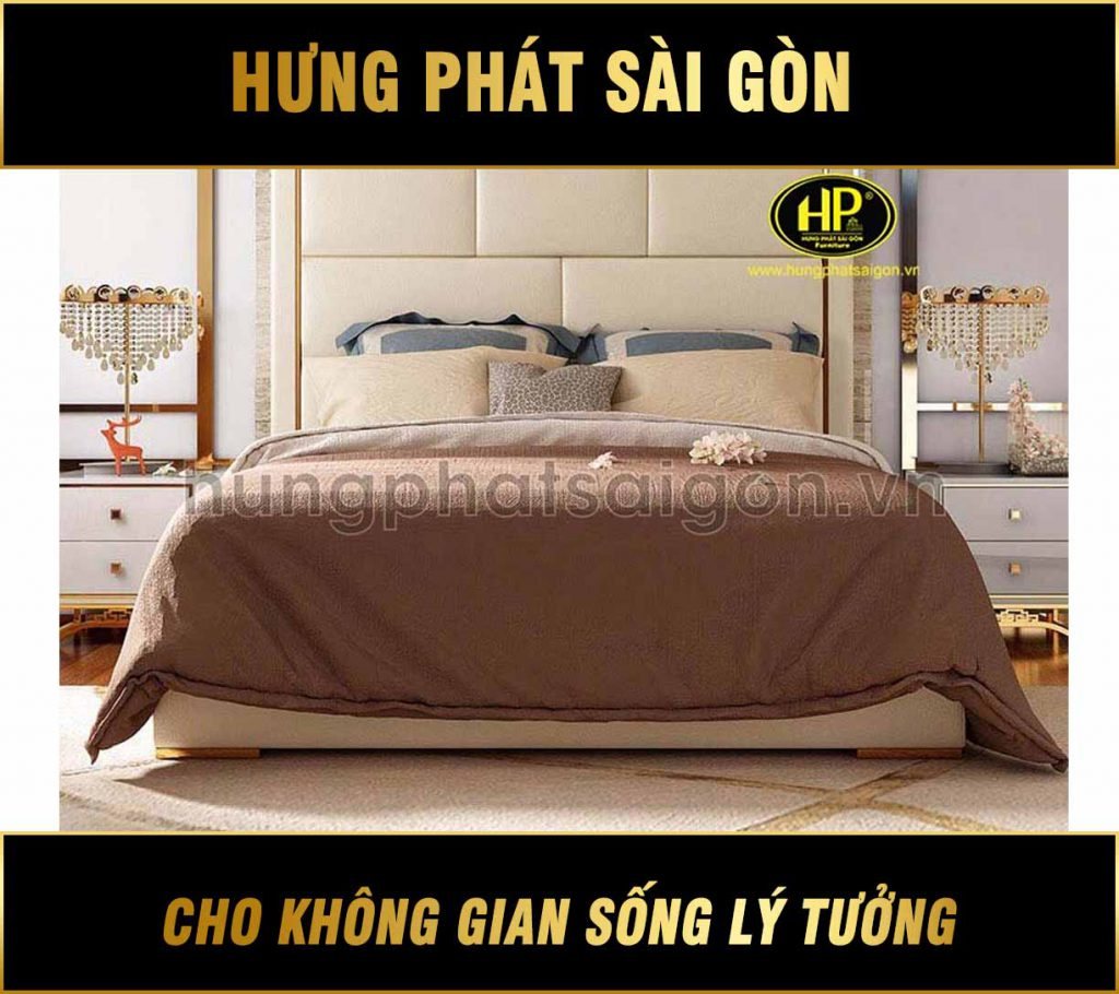 Giường ngủ da nhập khẩu GD-03