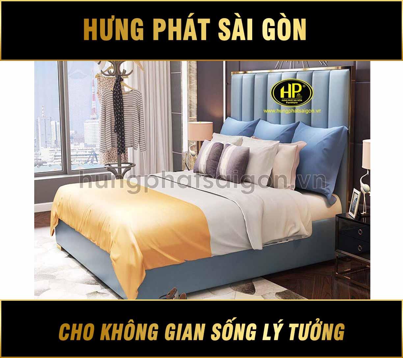 Giường ngủ đẹp phong cách hiện đại GD-09