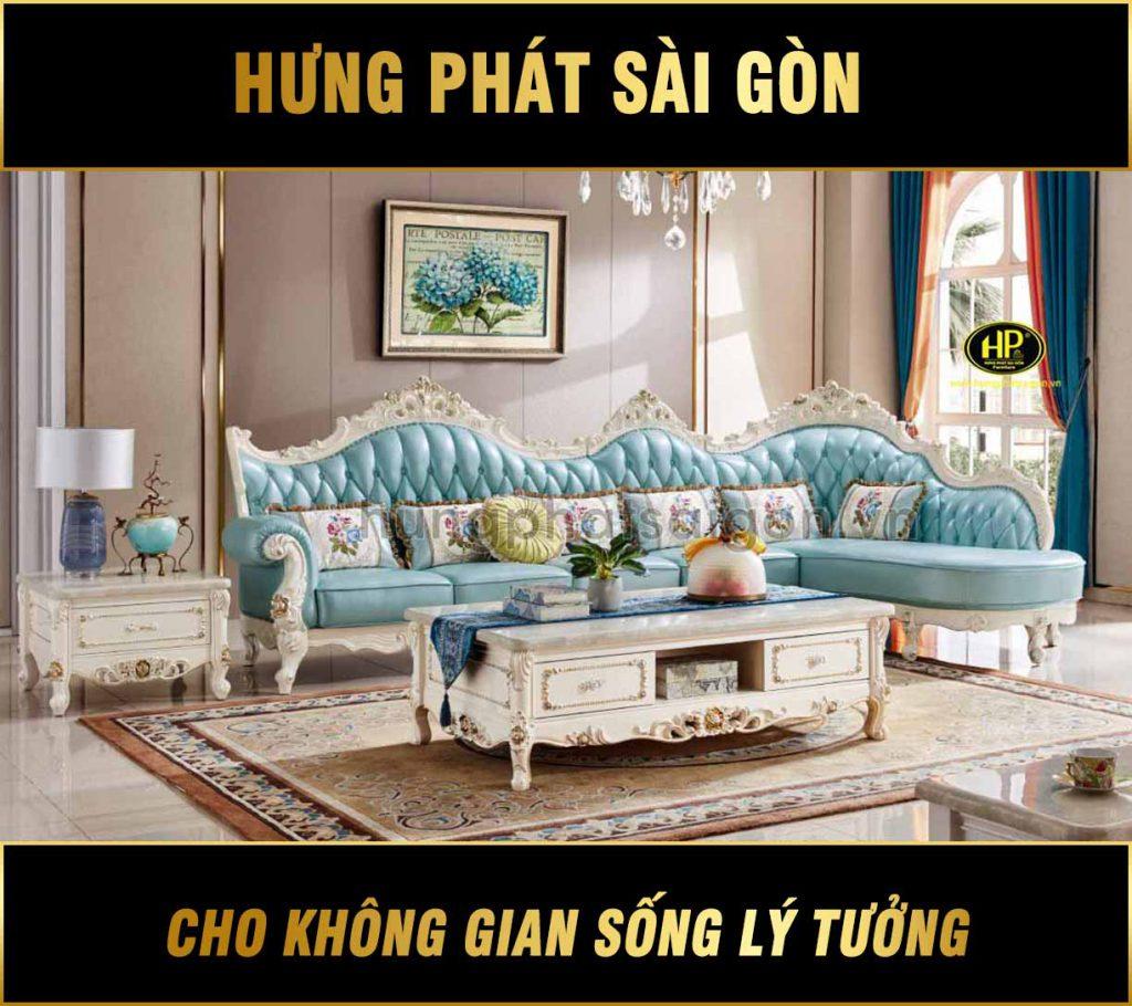 Bộ sofa luxury tân cổ điển sang trọng M-55B