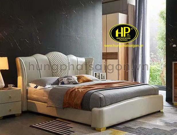 Mẫu giường da phong cách cổ điển GD-16