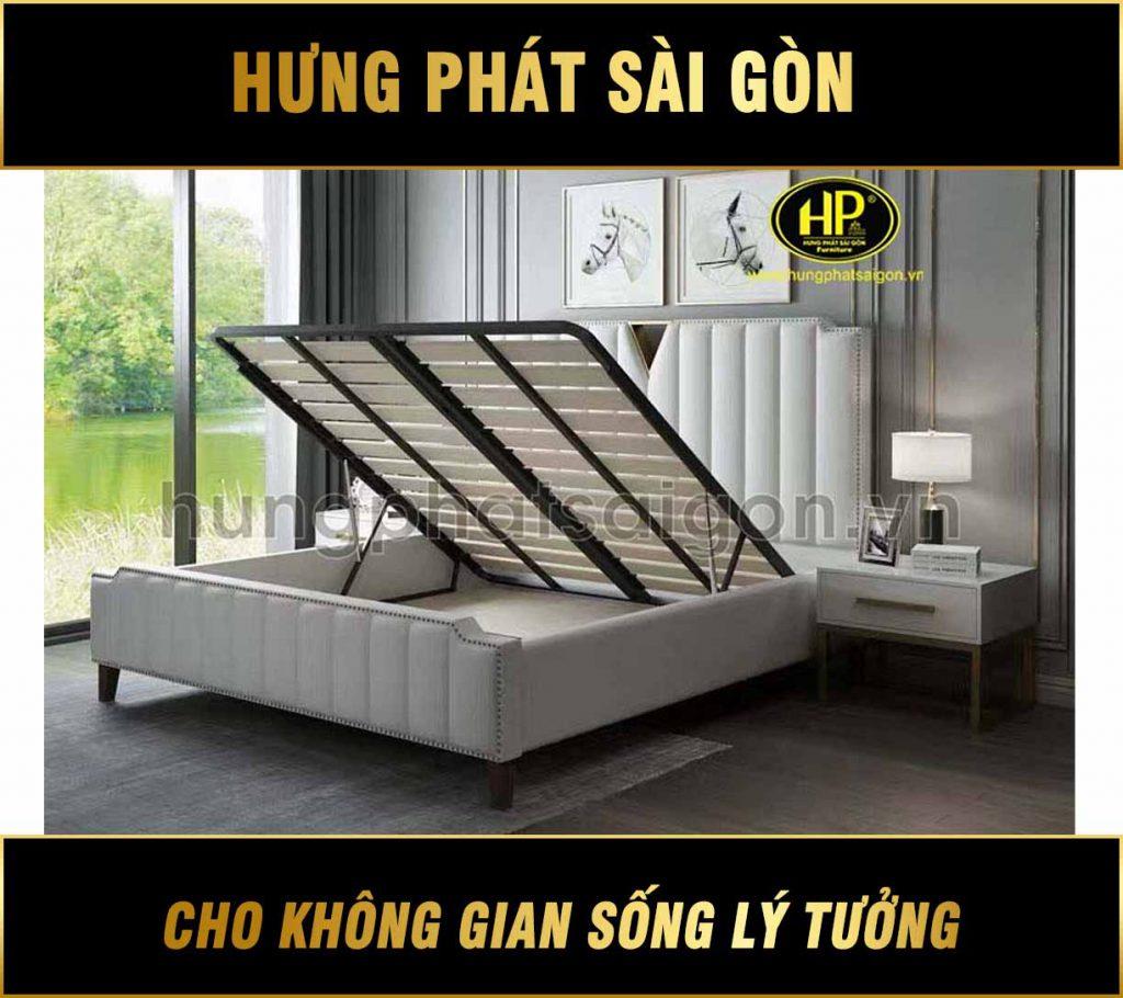 Mẫu giường da thiết kế sang trọng GD-11