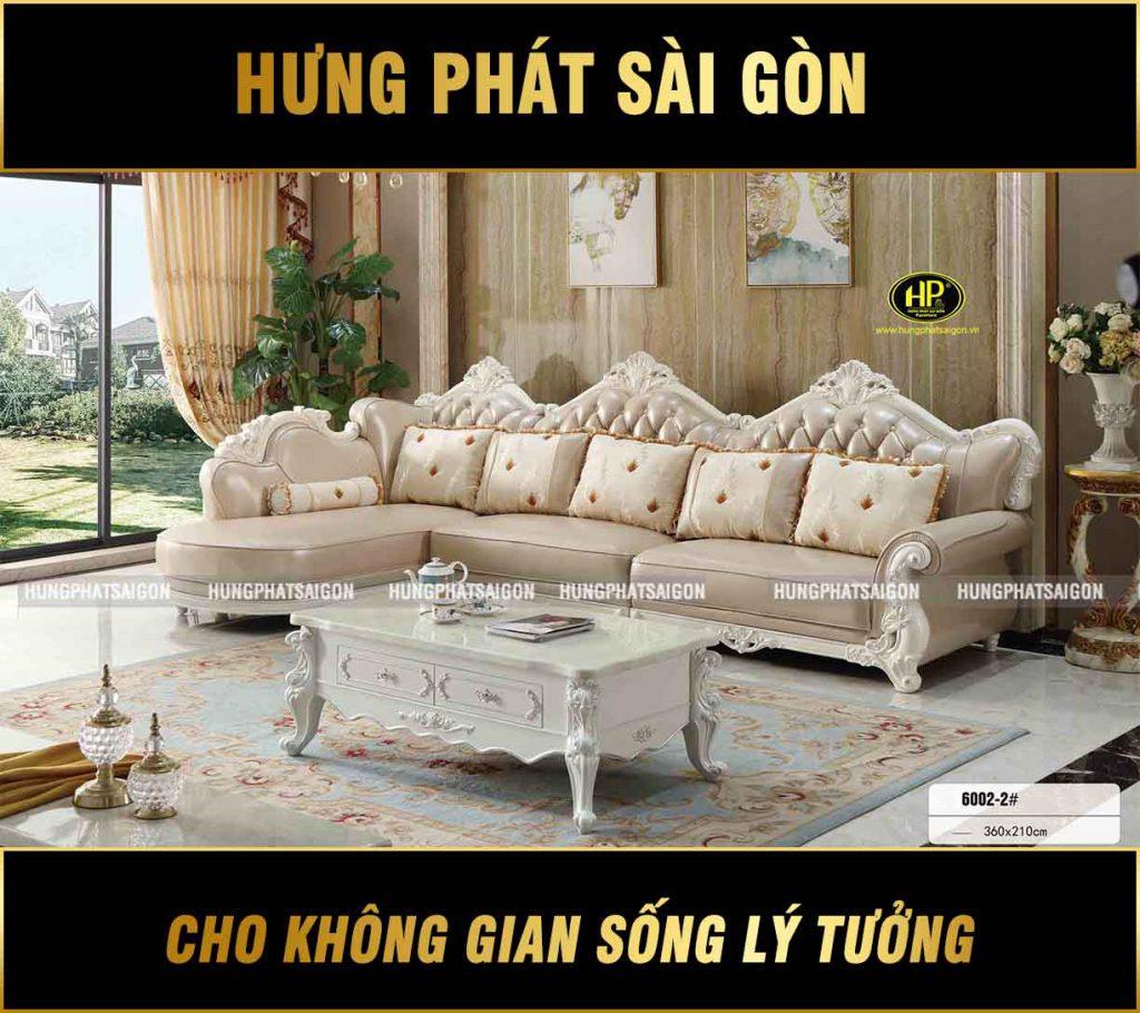 Sofa Tân Cổ Điển Góc L Nhập Khẩu TP-6002-2