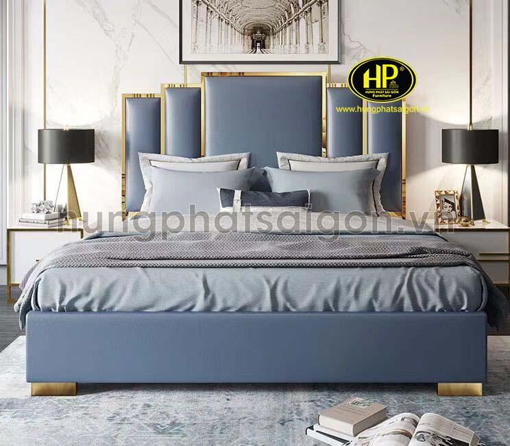 Thiết kế giường nỉ đơn giản trẻ trung GD-18