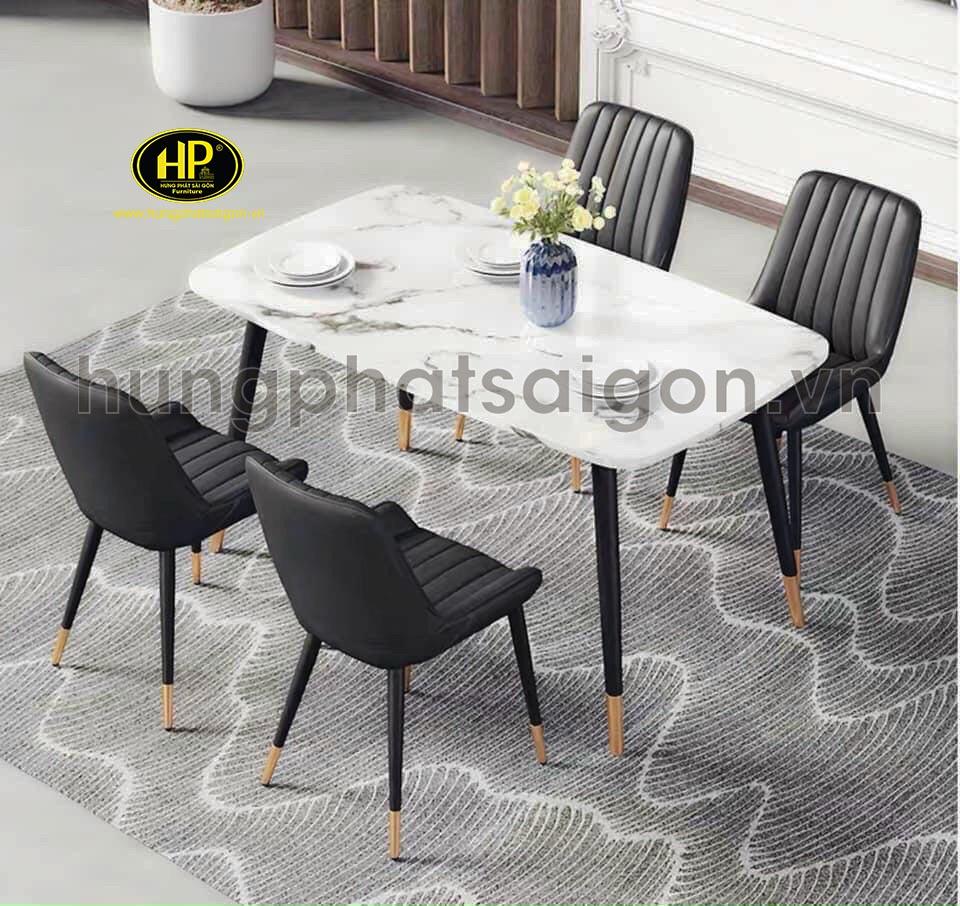 bàn ăn 6 ghế mặt dá cao cấp