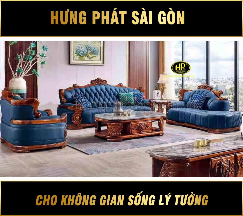 Sofa tân cổ điển nhập khẩu hiện đại B10