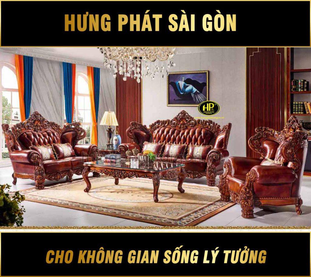 Ghế sofa gỗ hương đỏ tân cổ điển M-28
