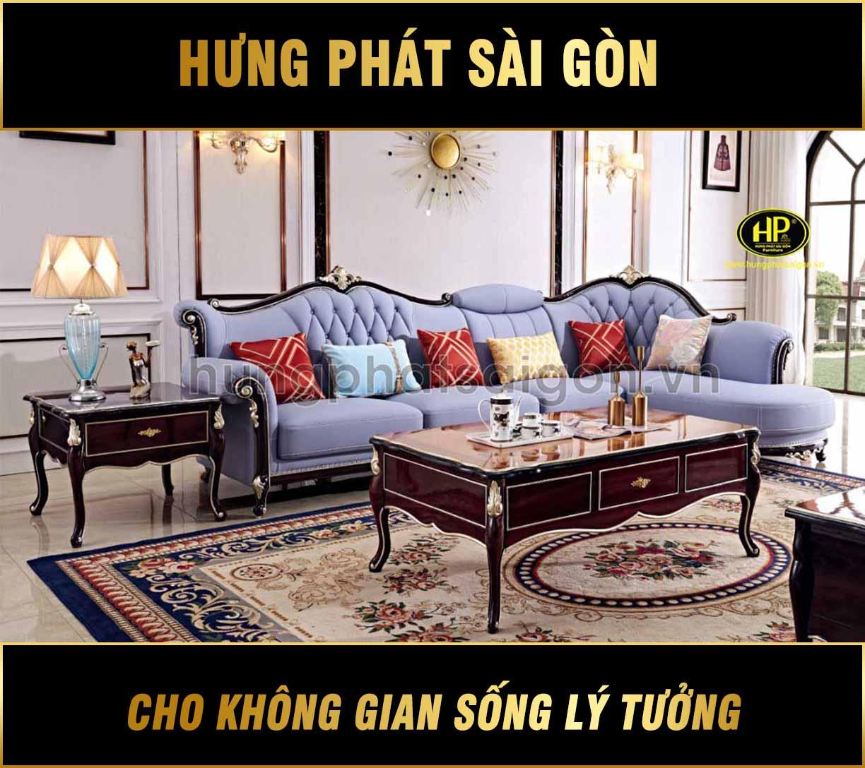 Ghế sofa góc tân cổ điển phong cách sang trọng L-05