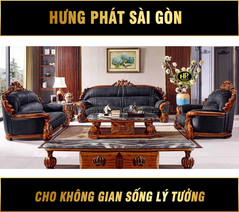 Ghế sofa tân cổ điển da bò Tây Ban Nha B02