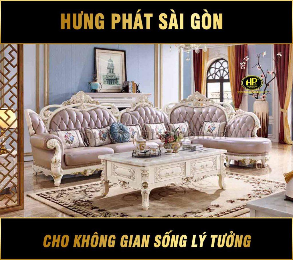 Sofa góc tân cổ điển cao cấp giá rẻ L-6A