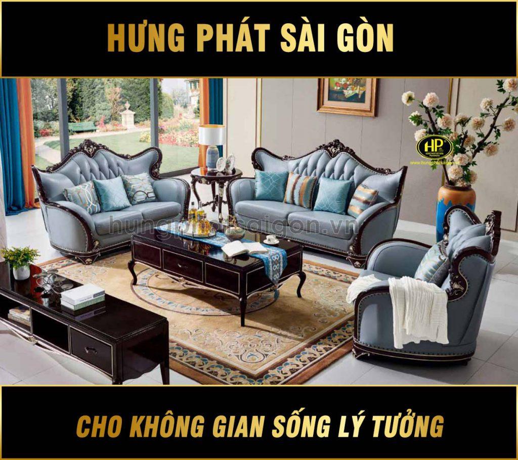 Sofa tân cổ điển gỗ hương đỏ cao cấp M-86A