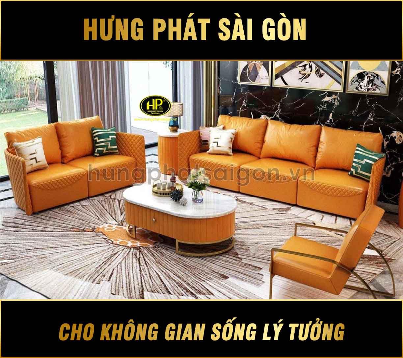 Ghế sofa cao cấp màu cam trẻ trung NK-30