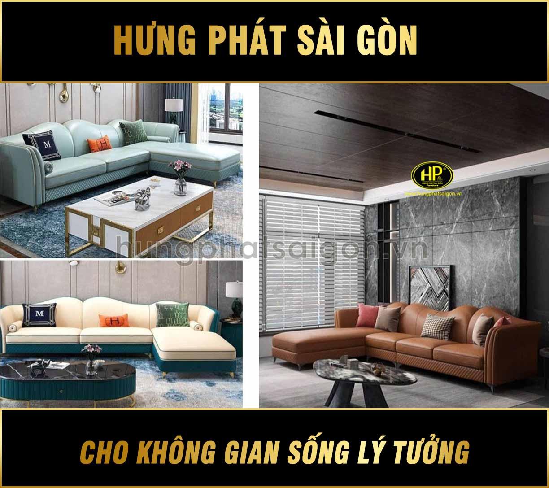 Ghế sofa da bò nhập khẩu góc L NK-26