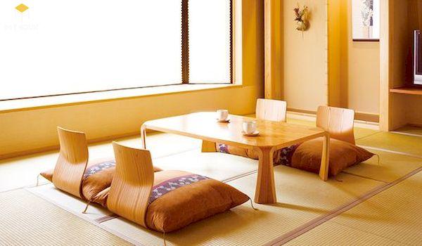 Bàn ăn ngồi bệt phong cách Hàn Quốc
