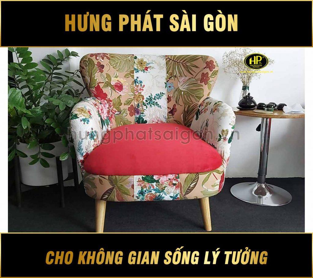 Ghế sofa đơn họa tiết hoa SD-34