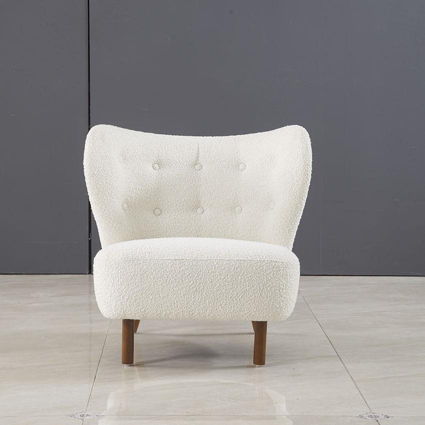 Sofa đơn màu trắng phong cách hiện đại DN-05 (2)