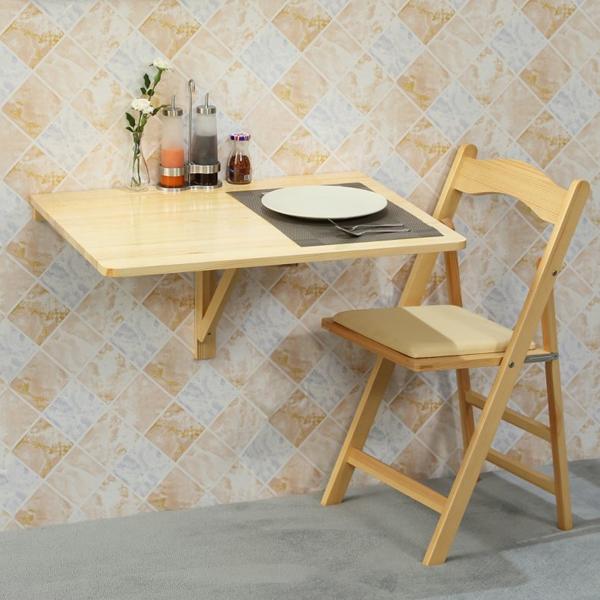 bàn ăn treo tường gỗ tự nhiên