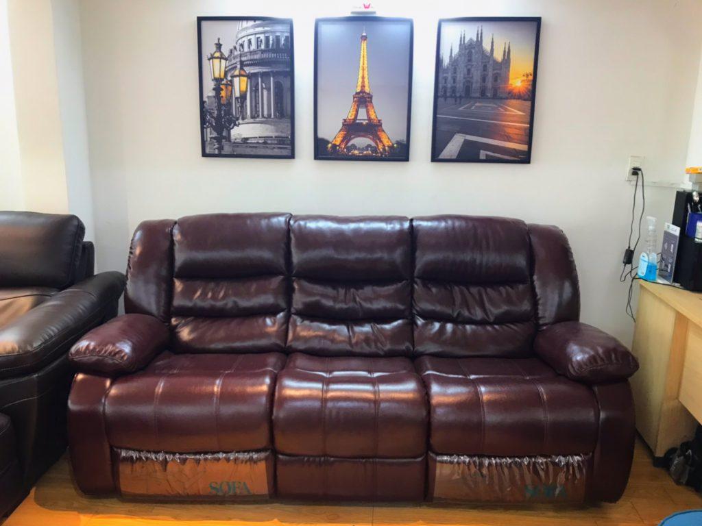 Sofa băng da thư giãn thanh lý TL-15