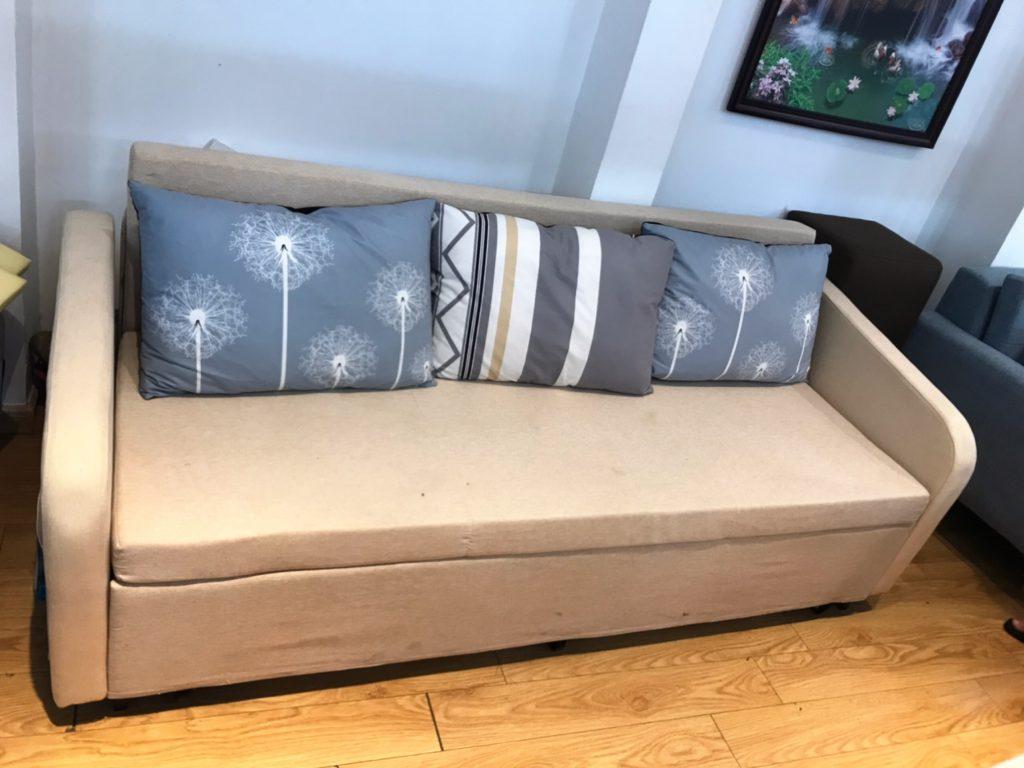 Sofa băng màu kem thanh lý TL-31