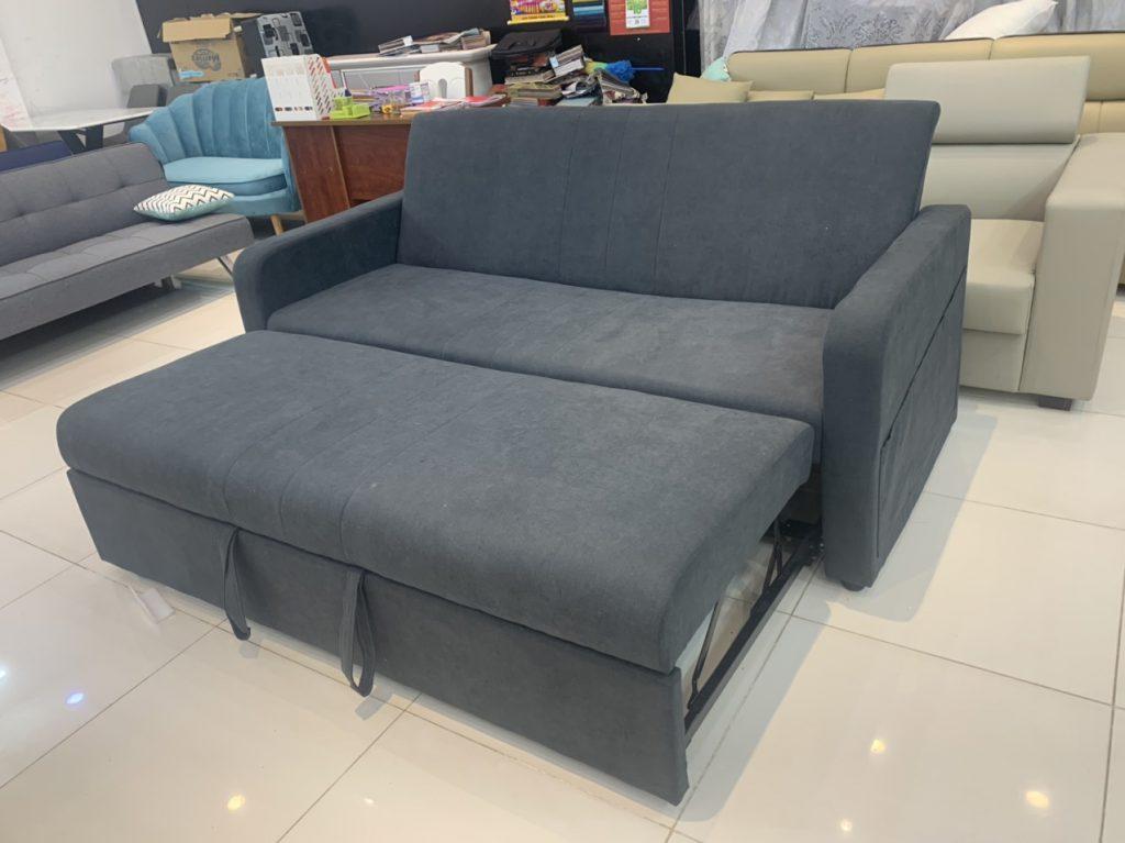 Sofa giường kéo màu xám thanh lý TL-45
