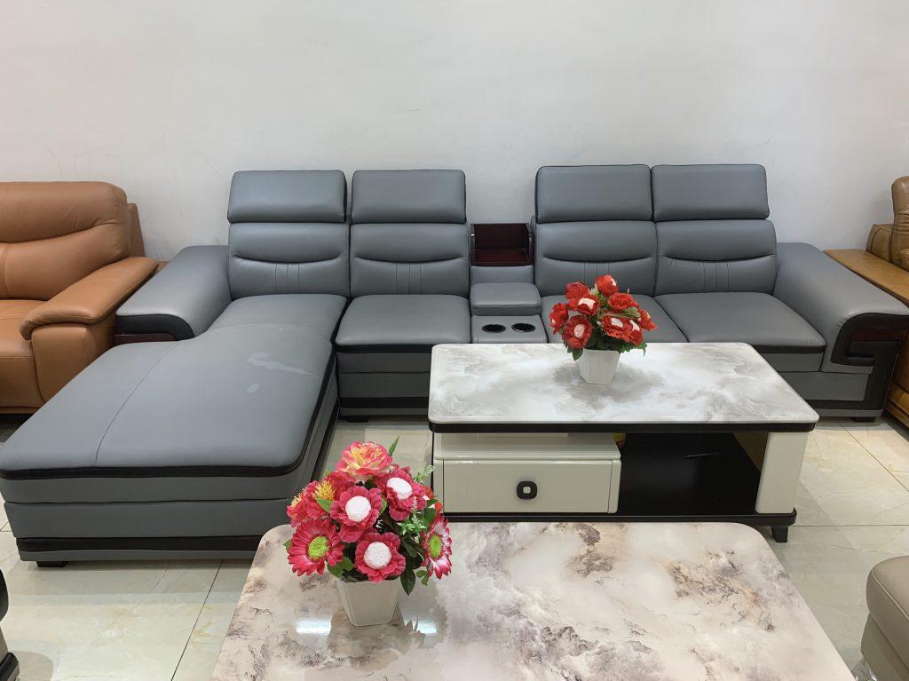 Sofa góc da thanh lý TL-52