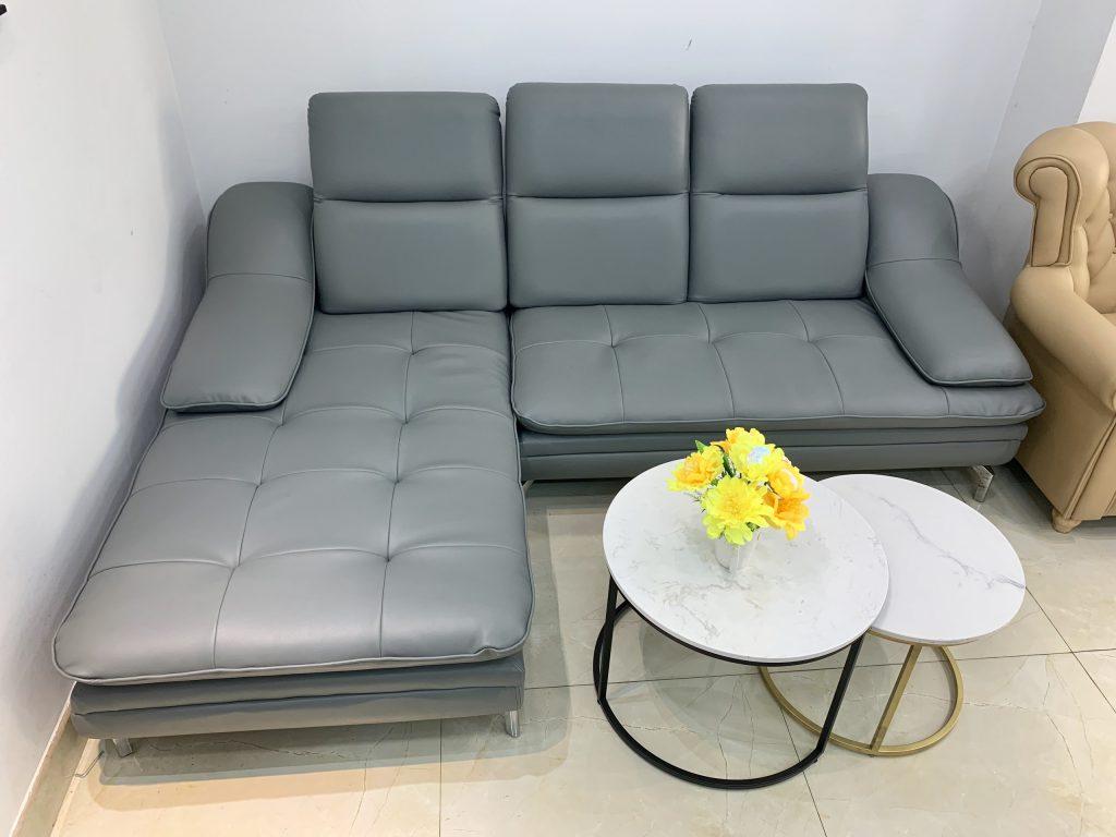 Ghế sofa góc da thanh lý TL-53