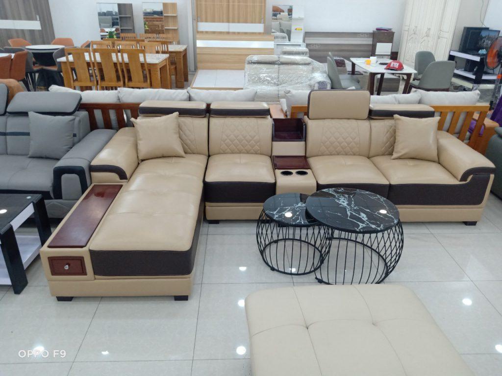 Sofa góc da thanh lý TL-125