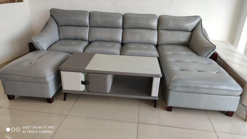 Sofa góc da thanh lý giá rẻ TL-140