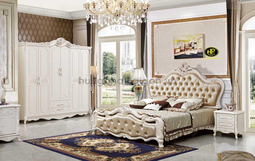 Bộ giường tủ tân cổ điển tặng kèm táp đầu giường TP-1603
