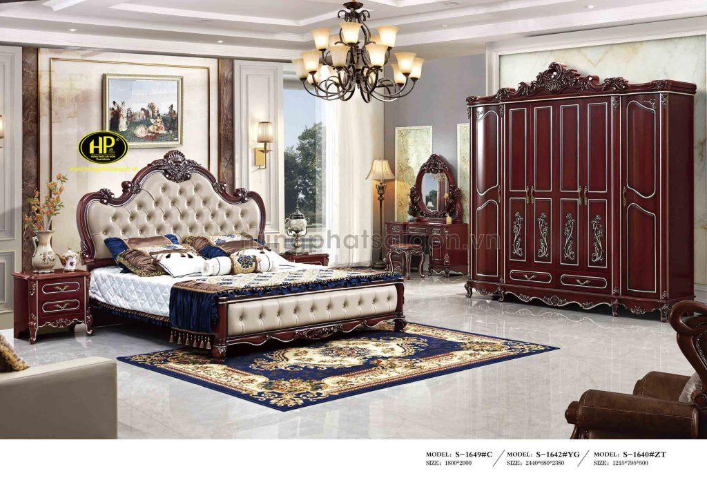 Combo giường tủ phòng ngủ tân cổ điển TP-1649