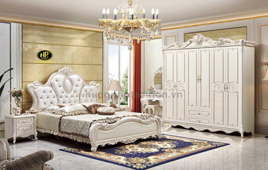 Combo giường tủ tân bàn phấn cổ điển TP-1735