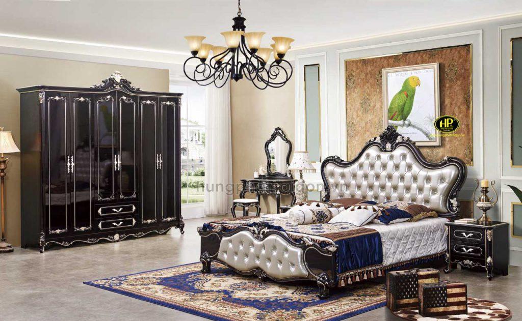 Bộ giường tủ bàn phấn phòng ngủ cổ điển TP-1905