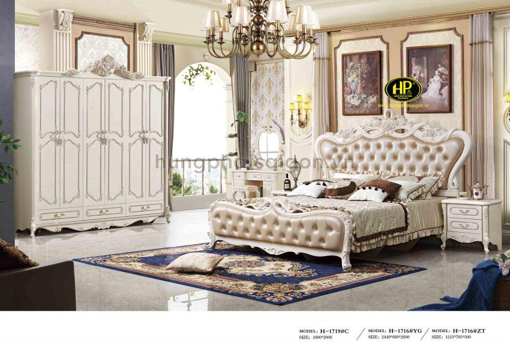 Bộ giường tủ bàn phấn cổ điển TP-1719