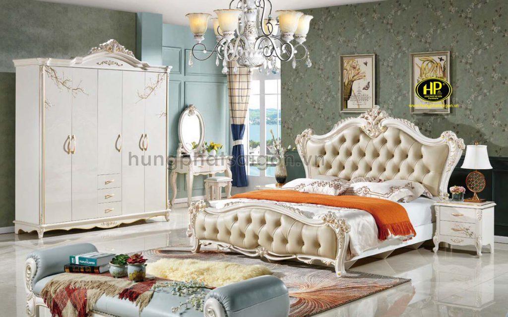 Bộ giường tủ bàn phấn tân cổ điển AT-M39