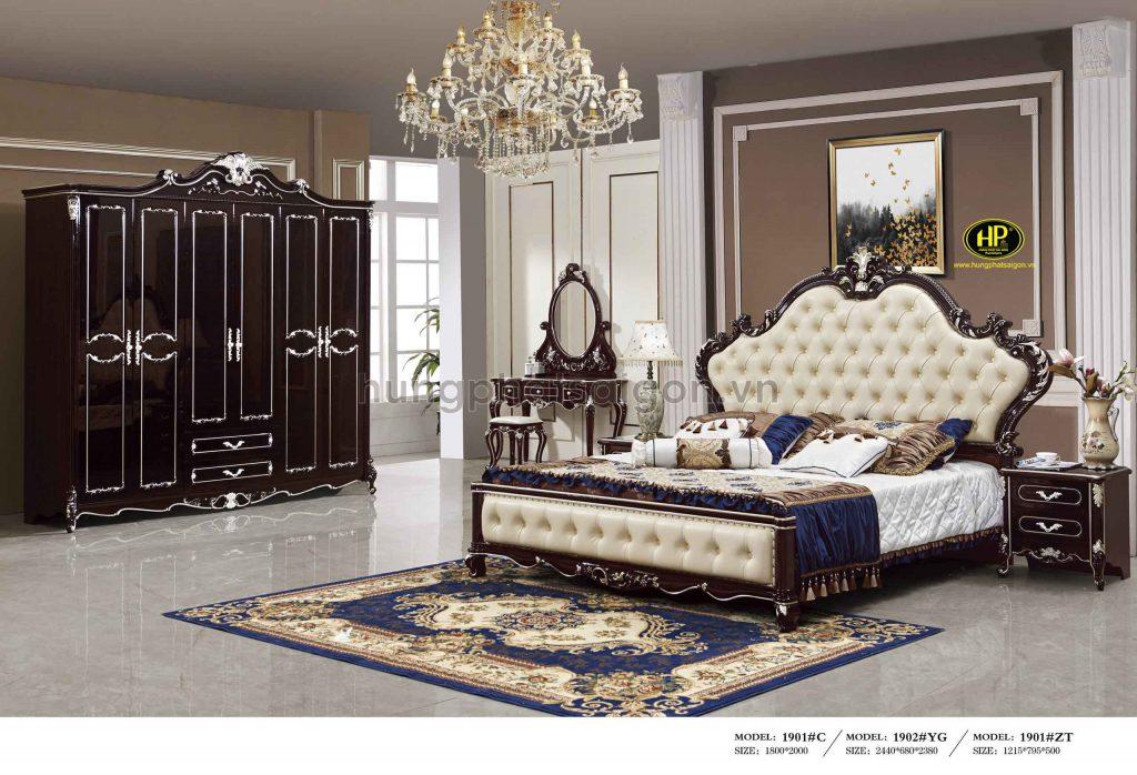 Bộ giường tủ bàn trang điểm cao cấp TP-1901