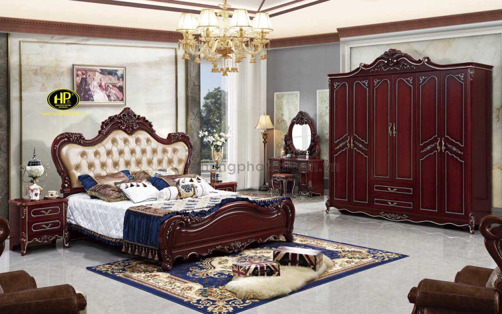 Bộ giường tủ bàn trang điểm cổ điển TP-1639